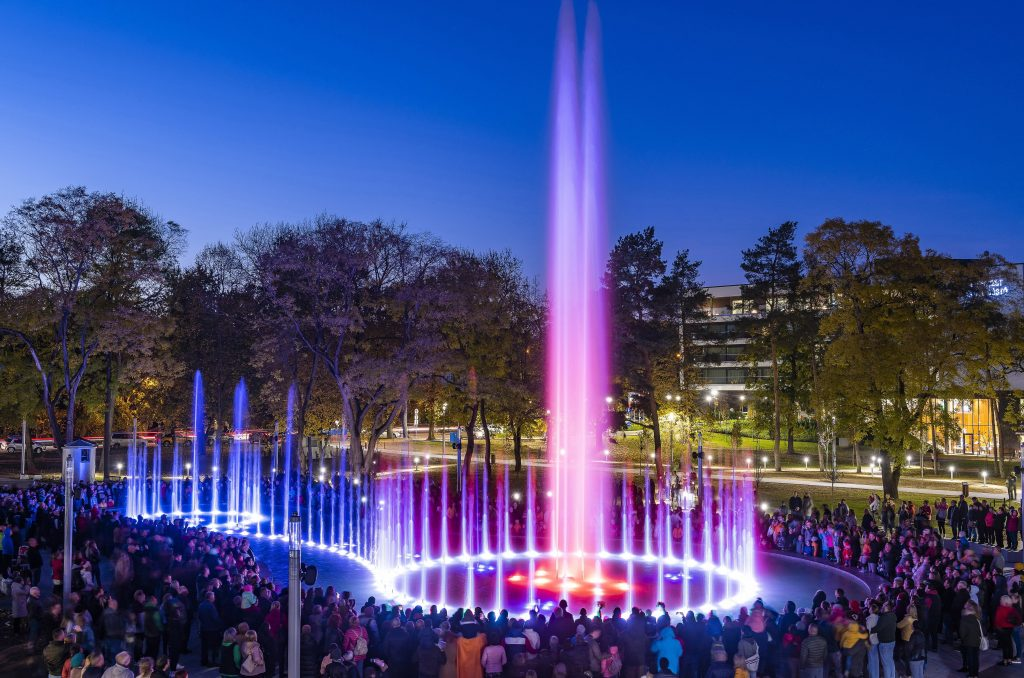 New Musical Fountain in Nyíregyháza- Photos!