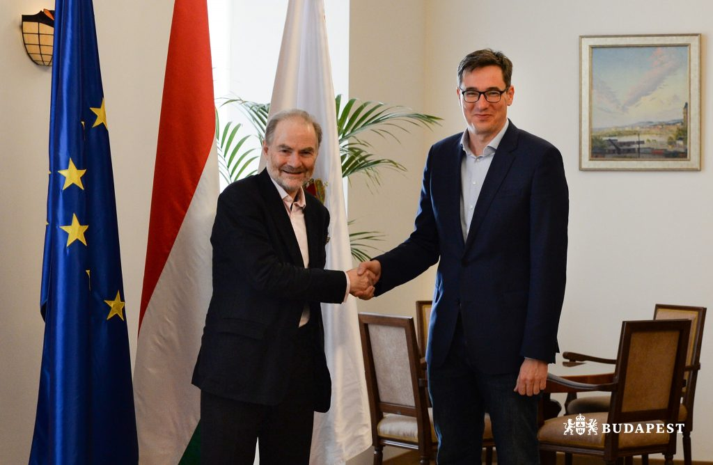 Budapest Mayor Karácsony Meets Historian Timothy Ash post's picture